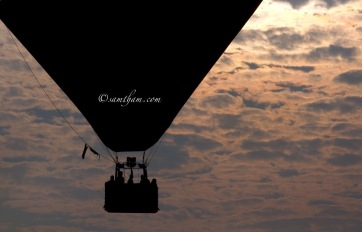8th PutrajaBeautiful silhouette of the hot air balloon as the sun slowly rise...ya Hot Air Balloon Fiesta.